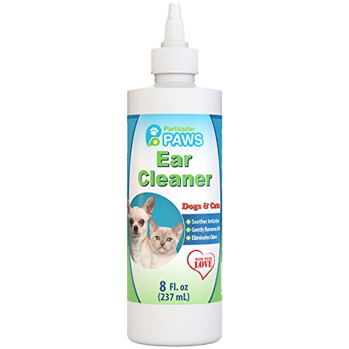 particular paws ear cleaner for dogs and cats with aloe vera tea tree oil vitamin e 8oz. Black Bedroom Furniture Sets. Home Design Ideas