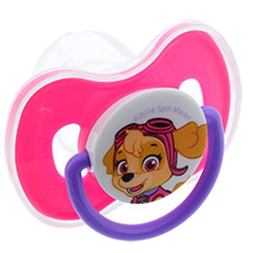 Paw Patrol pacifier with cover -- Pink / Skye