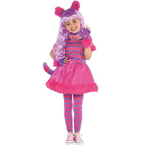 Girls Cheshire Cat Costume - Toddler (3-4)]()