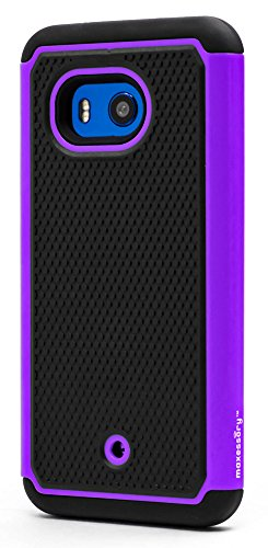 HTC U11 Case, Maxessory [Haven] Slim Shock-Proof Rugged Tough Protector Armor Shell w/ Durable Ultra-Slim Impact Protection TPU Thin Grip Cover Purple Black For HTC U11