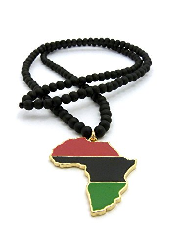 amazon com pan african colored africa map pendant 6mm 30 wooden