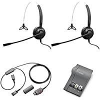 XS 820 Mono Headset Training Bundle | Headsets, M22 Digital Headser Adapter, Y-Training Splitter Cord #27019-03 (with Mute button) | Use for Coaching, Supervising, Training, Monitoring
