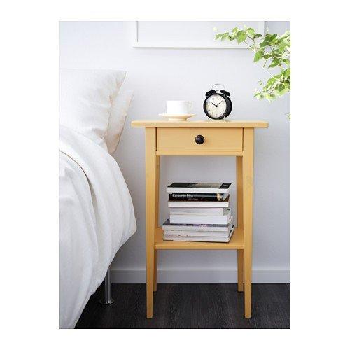 Ikea Hemnes Ablagetisch In Gelb 46x35cm Amazonde Küche Haushalt
