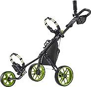 Caddytek CaddyLite 11.5 V3 3 Wheel Golf Push Cart - SuperLite Deluxe, Lightweight, Easy To Fold Caddy Cart Pus