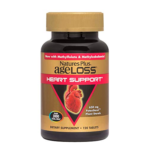 (Natures Plus AgeLoss Heart Support - 120 Vegetarian Capsules - Cardiovascular Health Support Supplement, Antioxidant, Anti Inflammatory & Anti Aging - Gluten Free - 30 Servings)