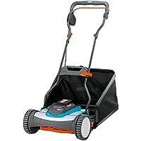 Tondeuse hélicoïdale sans fil sur batterie 380 Li GARDENA : tondeuse hélicoïdale à main, pour pelouse jusqu'à 400 m², coupe sans friction, avec batterie et sac de ramassage (4025-20)