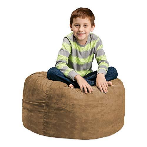 Chill Sack Bean Bag Chair: Large 2' Memory Foam Furniture Bean Bag - Big Sofa with Soft Micro Fiber Cover - Earth