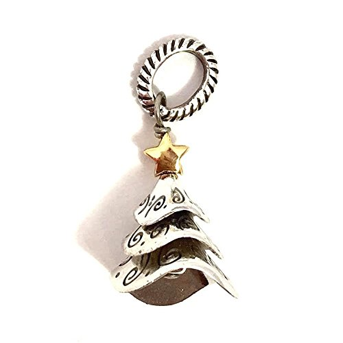 Brighton Tinsel Tree Charm, J95111, Silver and Gold Finish from Brighton