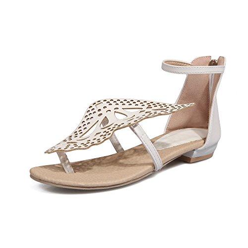 bajo amp;X los pies de Tacón La Sandalias Qin White Mujer vFUwxTxq