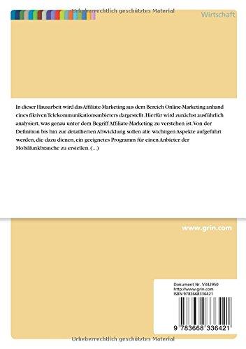 Aufbau-Eines-Affiliate-Marketing-Programms-Zur-Verkaufsforderung-Fur-Einen-Telekommunikationsanbieter-German-Edition