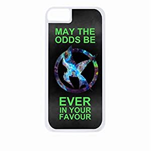 May the Odds Be Ever in Your Favor-Neon- Hard White Plastic Snap - On Case-Apple Iphone 6 Only - Great Quality!