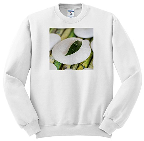 Price comparison product image 3dRose Andrea Haase Nature Photography - Green Leaf with Water Drop on White Pebble Zen Style - Sweatshirts - Youth Sweatshirt XS(2-4) (ss_266541_9)