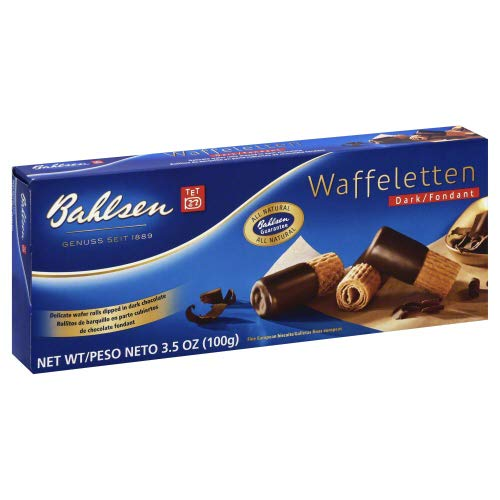 Bahlsen Wafers - Bahlsen Wafer Roll Dark chocolate 3.5 OZ (Pack of 2)