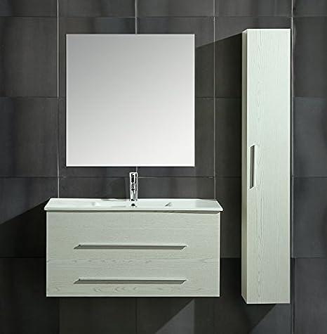 Mobile Arredo Bagno Urban 100 cm Sospeso Moderno Bianco: Amazon.it ...
