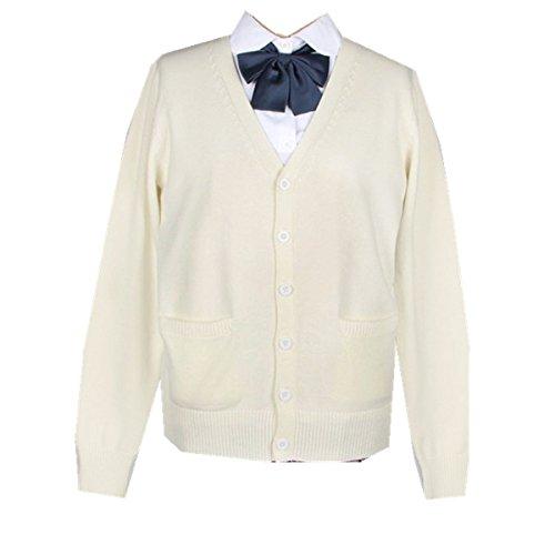 Taiduosheng レディース カーディガン フォーマルセーター 学生服 セーター スクールセーターVネック コットン(男女兼用)