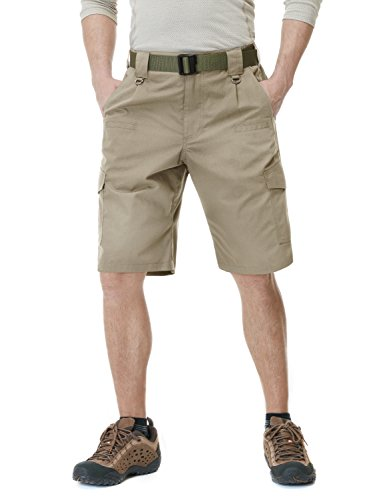 (CQR Men's Tactical Lightweight Utiliy EDC Cargo Work Uniform Shorts, Tactical Shorts(tsp203) - Khaki, 42)