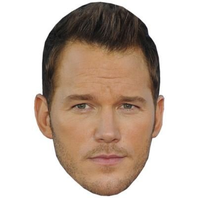 Chris Pratt Celebrity Mask, Card Face and Fancy Dress Mask