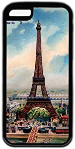 LJF phone case Eiffel Tower Retro Painting Theme iphone 6 plus 5.5 inch Case