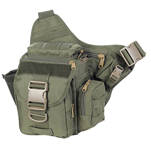 MatchLife - Bolso al hombro para hombre Camouflage2 verde oscuro grisáceo