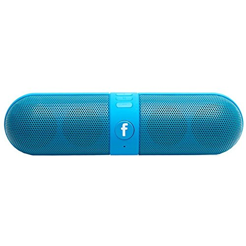 Wireless Bluetooth Speakers, Portable Stereo Bluetooth Speakers with HD Audio and Surround Sound,The pill Car outdoors FM Radio AUX USB TF Card Mic speaker for IOS -Updated Version (Blue)