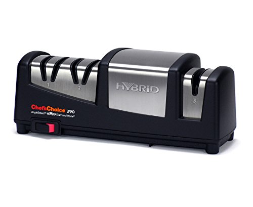 Chef's Choice 290 Hybrid AngelSelect 15/20 Diamond Hone Knife Sharpener, Black Chefs Choice Manual