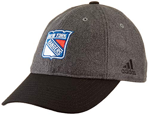 adidas NHL New York Rangers Adjustable Slouch Hat, One Size, Grey