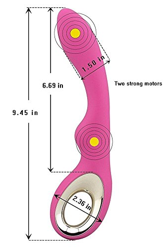 Personal Vibrator Massager Large Size Waterproof Powerful Silicone and Silent for Women, Pink