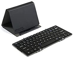 Plugable Full-size Bluetooth Folding Keyboard For Android, Ios, Windows, Os X With Protective Casetablet Stand