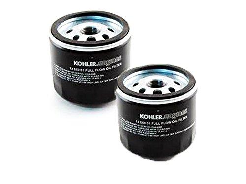 Kohler Filter Oil (Kohler (2 Pack) 12 050 01-S1 Engine Oil Filter For CV17 - CV26 And CH17 - CH26)