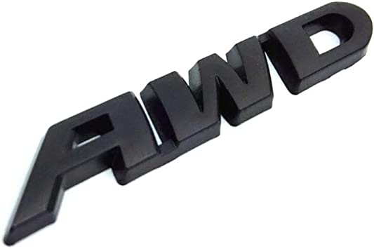 AWD Logo Metal Emblem Sticker Badge Decal for 4 Wheel Drive SUV Off Road Tailgate Honda new CRV Crosstour VEZEL XRV Black