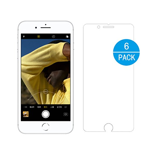 Ailun Screen Protector Compatible with iPhone 8 Plus iPhone 7 Plus,[6-Pack][5.5 inch],3D Touch Compatible,HD PET,Ultra Clear,Anti-Scratch,Fingerprint&Oil Stain Coating,Case Friendly