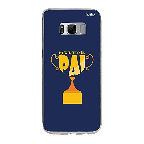 Capa Personalizada Pai Troféu, Husky para Galaxy S8 Plus, Capa Protetora para Celular, Multicor