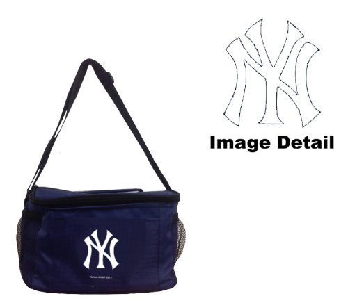 Team Logo 6-Sports Drink Beer Water Soda Beverage Can Insulated Picnic Outdoor Party Beach BBQ Kooler Cooler Lunch Bag Tote - 6-Pack Bag (New York Yankees Beer)