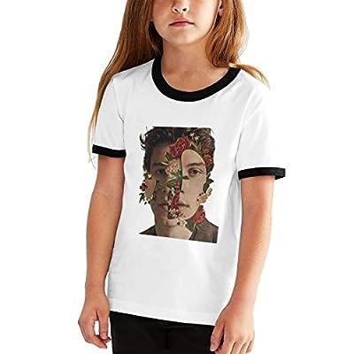CUSARTSHOP Teen Kids Short Sleeves Baseball Tee Youth Cotton T-Shirts, Shawn Mendes Black