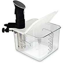 EVERIE Collapsible Hinged Sous Vide Container Lid for Anova Culinary Precision Cookers, Fits 12,18,22 Quart Rubbermaid Container (Corner Mount)