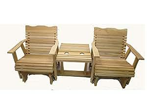 Amazon.com: Cedar settee planeador, natural, 6 Amish ...