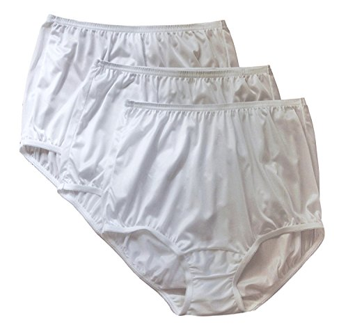 Vanity Fair Classic Ravissant Tailored Brief - Pack Of 3-15712 (9/2XL, SWH Multi) (Panty Nylon White Brief)