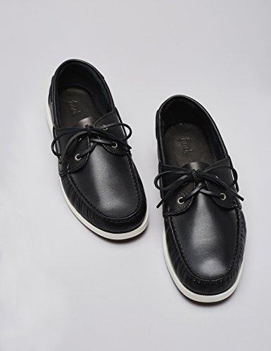 FIND Zapatos Náuticos Hombre Negro (Black)