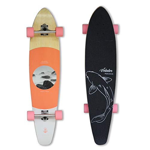 - VOLADOR 42inch Freeride Longboard Complete Cruiser (Drop Through Deck - Camber concave) (NatureRD)
