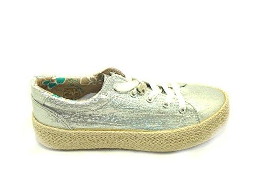 Donna Argento Noir Café 204 Tessuto E18 Lurex Sneakers In Cafenoir Dh903 Scarpa CqaqxnEwI