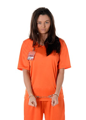 Women's Orange Prisoner Costume Halloween (M)