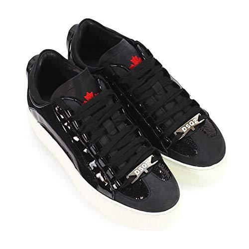 Nere Donna Vernice Dsquared2 Sneaker Paillettes In E x4qHUOwn1g