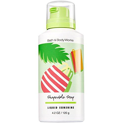 Bath and Body Works Shapeable Soap Liquid Sunshine 4.2 Ounce (Jasmine White Body Wash Diamonds)