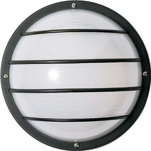 Nuvo SF77/859 Bulkhead 1-Light Round Cage 75W A19, Textured Black