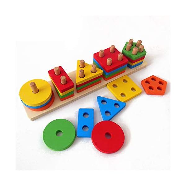 Wooden Educational Preschool Toddler Toys for 1 2 3 4 5 Year Old Boys Girls Sort