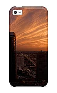 Cute High Quality Iphone 5c Chicago Skyscrapers At Twilight Case