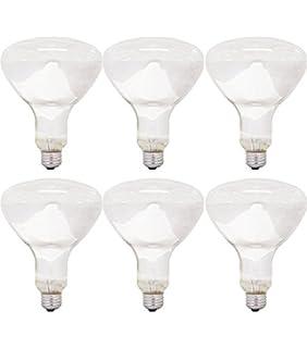 GE 14016-6 65 Watt Floodlight BR40 Light Bulb, Soft White, 6-