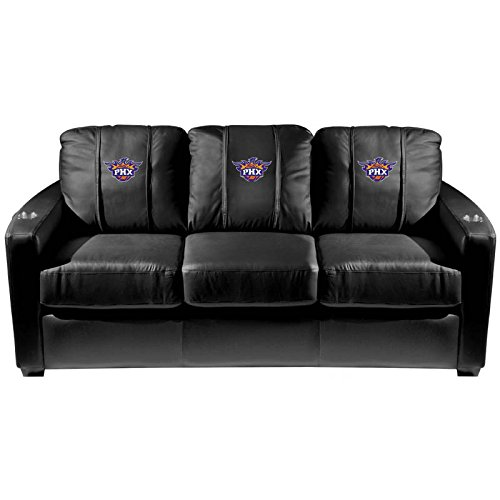 XZipit NBA Silver Sofa with Phoenix Suns Secondary Logo Panel, Black