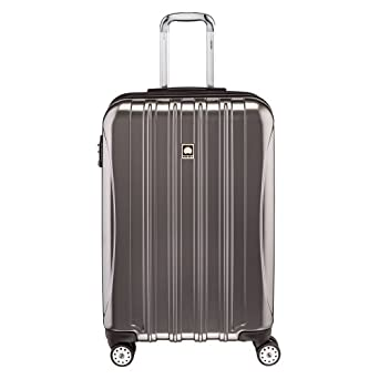delsey luggage helium aero 25 inch expandable spinner trolley charcoal suitcases. Black Bedroom Furniture Sets. Home Design Ideas