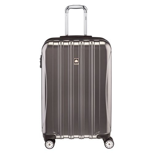 Delsey Luggage Helium Aero 25 Inch Expandable Spinner Trolley, Titanium,One (Optional Metallic Finishes)